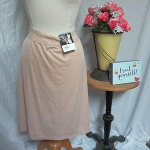"Vassarette Half Slip Tan XXL 24"" Adjustable Waist"